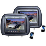 Pyle PL71PHB Headrest Pair with Built-in 7-Inch TFT-LCD Monitors