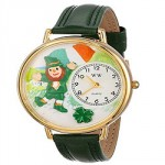 St. Patrick's Day Irish Flag Green Leather Watch