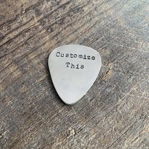 10 year anniversary gift ideas lauren elaine designs personalized pick you hand stamped guitar pick in aluminum