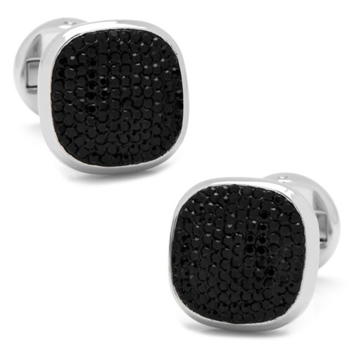 10 year anniversary ox bull trading co sterling silver swarovski pave knot cufflinks