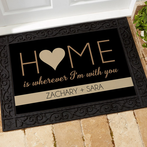 10 year anniversary personalization mall home with you personalized doormat