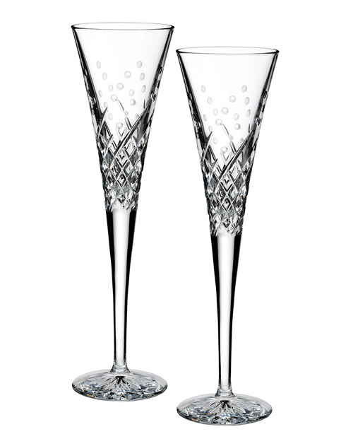 10 year anniversary waterford crystal wishes happy celebration toasting flutes