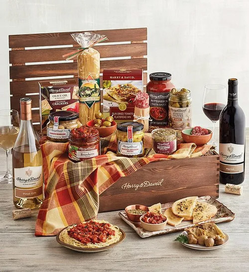 12 best gift baskets harry david italian inspirations gift basket with wine