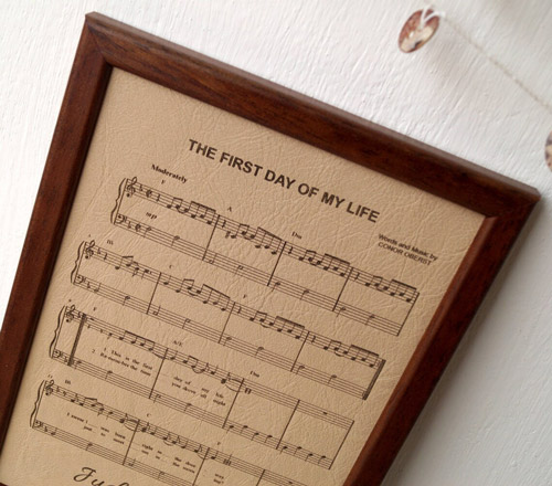 3rd anniversary gift ideas cork country cottage leather engraved music sheet