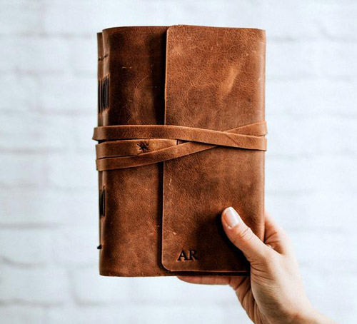 3rd anniversary gift ideas forest nine personalized leather journal