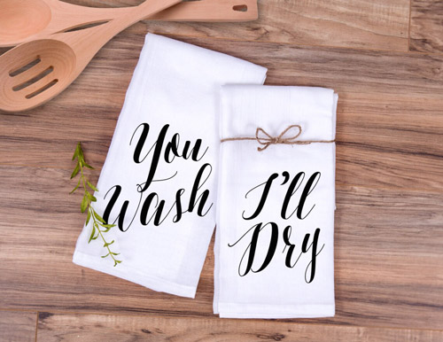 3rd anniversary gift ideas z create design you wash ill dry kitchen towel set