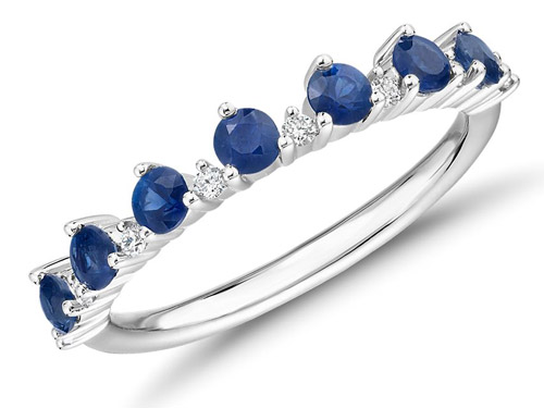 5 year anniversary gift ideas blue nile sapphire and diamond tiara stacking ring