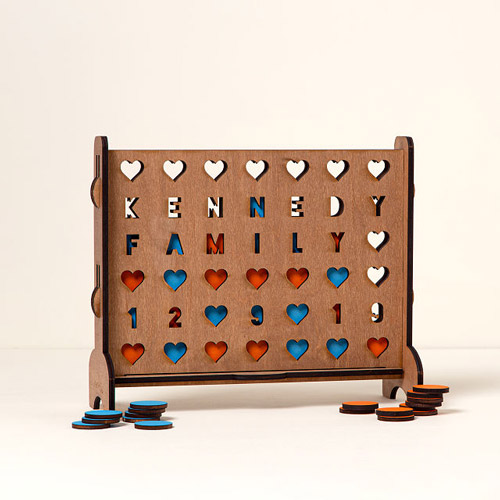 5 year anniversary gift ideas kasey and justin pearson personalized hearts four across game