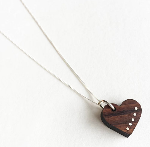 5 year anniversary gift ideas liel and lentz heart necklace 5th anniversary wood gift