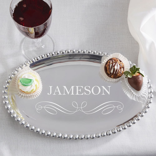 5 year anniversary gift ideas mariposa string of pearls personalized oval tray